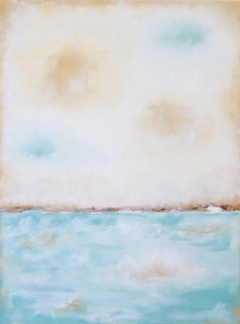 aqua and beige seascape