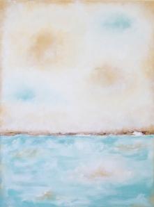 aqua and beige seascape