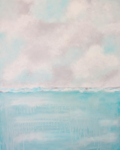 aqua and gray seascape